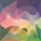 Abstract vector polygonal background with glaring lights — Stock Vector