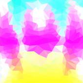 Abstract bright purple, yellow, blue and white colored polygonal triangular basis background for use in design — Stock Vector