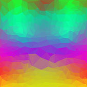 Triangular abstract polygonal basis background with bright spectral colors for use in design — Stock Vector
