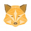 Polygonal abstract fox isolated on a white background — Stock Vector #58620811