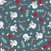 Winter holidays pattern seamless background — Stock Vector