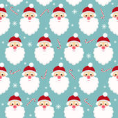 Winter holidays seamless pattern background with funny cartoon S — Stock Vector