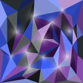 Abstract bright colored polygonal triangular geometric background with glaring lights — Vettoriale Stock