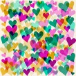 Bright motley colored hearts seamless pattern background for use in design for valentines day or wedding — Vecteur #61971917
