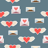 Valentines day or wedding seamless pattern background — Cтоковый вектор