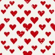 Defective old hearts seamless pattern background for use in design for valentines day or wedding — Vector de stock  #63997215