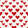 Defective old hearts seamless pattern background for use in design for valentines day or wedding — Stock vektor #63997215