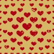 Defective old hearts seamless pattern background for use in design for valentines day or wedding — Vector de stock  #63997223