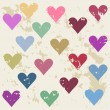 Defective hearts seamless pattern background for use in design for valentines day or wedding — Vecteur #63997233