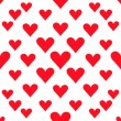 Hearts seamless pattern background for valentines day or wedding — Vector de stock  #63997563