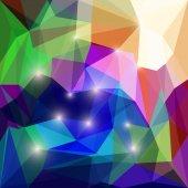 Streszczenie jasny kolorowy wielokątne trójkątny tło z jaskrawe światło do wykorzystania w projektowaniu dla karty, zaproszenie, plakat, baner, afisz lub billboard okładka — Wektor stockowy