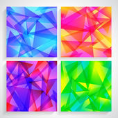 Fractal Abstract Background set of fractal abstract — Stock Vector