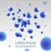 Molecule illustration background — Stock Vector