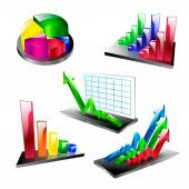Business plan symbol element set icons arrow diagram — Stock Vector