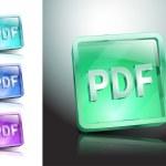 Pdf icon button internet document file — Stock Vector #54567787