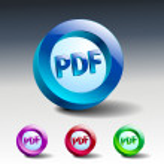 Pdf icon button internet document file — Stock Vector #54637409