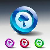 Tree glass icons set color nature — Vector de stock
