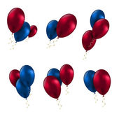 Balloon birthday decoration celebrate party set — Cтоковый вектор