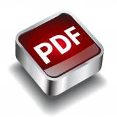 Pdf download icon button internet — Stock Vector