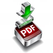 Pdf download icon button internet document — Stock Vector