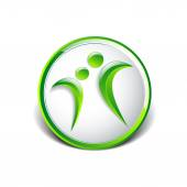 Vector conceptual icon such logo living — Stock vektor