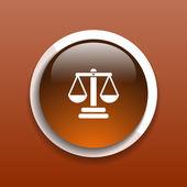 Justice vector icon symbol measurement balance — Stock Vector