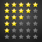 Five Star Checklist Rating On Blackboard — Stock Vector