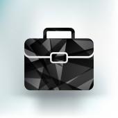 Briefcase icon, vector illustration. Flat design — Stock Vector