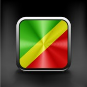 Republik kongo-flagge — Stockvektor