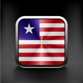 Flag of Liberia. Vector. Accurate dimensions — Stock Vector