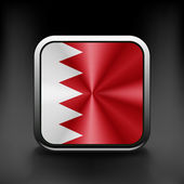 Original and simple Bahrain flag isolated vector in official colors and Proportion Correctly — Stock Vector
