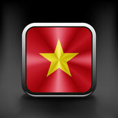Vietnam icon flag national travel icon country symbol button — Vettoriale Stock