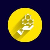 Znacznik wyboru na ikonę strony sieci web. wektor wzór — Wektor stockowy