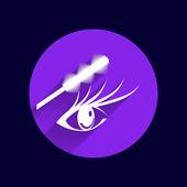 Wimpern und Augenbrauen Vektor Wimpern Augen Vektor Symbol Make-up isoliert — Stockvektor