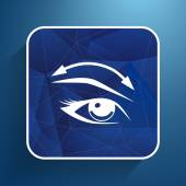 Eyelashes and eyebrows vector eyelash eye vector icon makeup isolated — Stock Vector