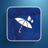 Waterproof icon water proof vector symbol umbrella  — Vettoriale Stock
