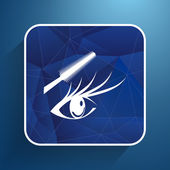 Woman eye with beautiful makeup and long eyelashes. Mascara Brush. High quality image. — Stock Vector