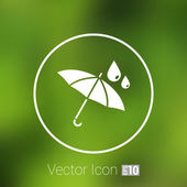Waterproof icon water proof vector symbol umbrella  — Stock Vector