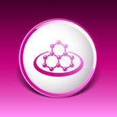 Icon molecular research chemistry medicine molecule atom vector  — Stock Vector