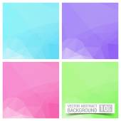 Set of four colorful abstract geometric background with place for your text — Stockvektor