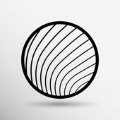 Vector button glass orb disco icon round  — Vettoriale Stock