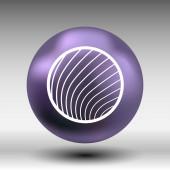 Vector button glass orb disco icon round — Vettoriale Stock
