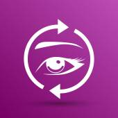 Wimpern Augenbrauen Vektor Wimper Auge Symbol Make-up isoliert — Stockvektor