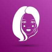 Woman face fashion girl beauty illustration vector — Stock Vector