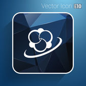 Molecule icon atom vector chemistry symbol element — Stock Vector