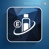 维生素 E 孤立化学上白色背景 — 图库矢量图片