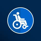 Handicap handicapped chair wheel accessible an invalid icon — Stock Vector