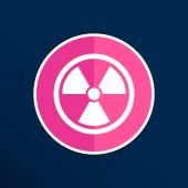 Sign radiation vector icon caution nuclear atom power — Stock Vector