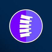 Spine diagnostics symbol design spine icon vector — Stock Vector