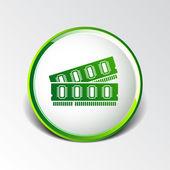 Icona di potere rom memoria chip ram hardware — Vettoriale Stock